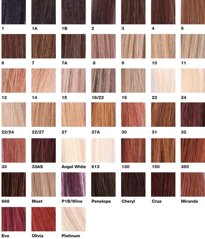 Hair Extension Colours