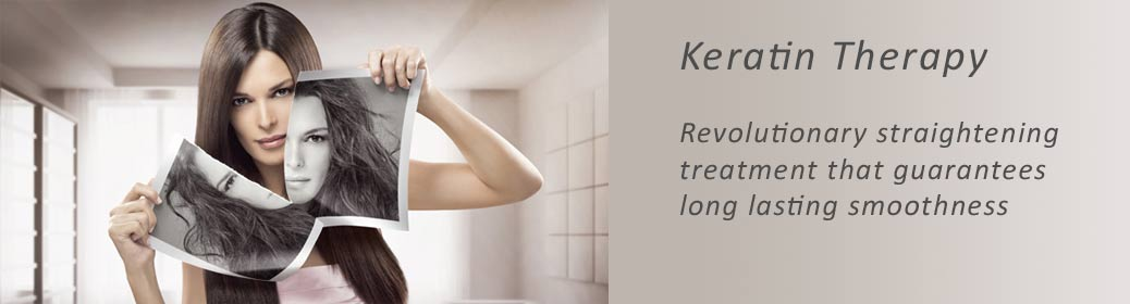 Keratin Therapy - for smooth, straight, frizz free hair
